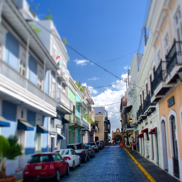 Blue brick street in San Juan, Puerto Rico.#rivercityphotographyinstagram #sanjuan #puertorico #colorfulbuildings - From Instagram