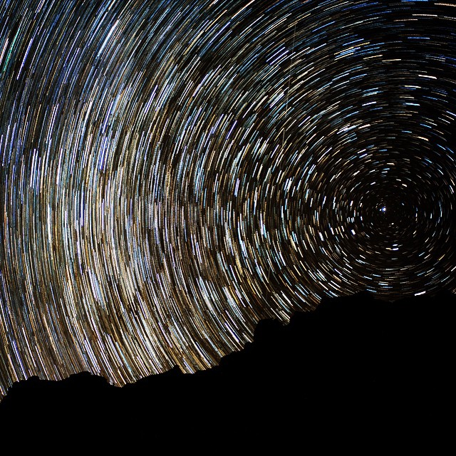 For my first attempt at star trail photography, I feel like this came out pretty well! #startrail #bigbend - From Instagram