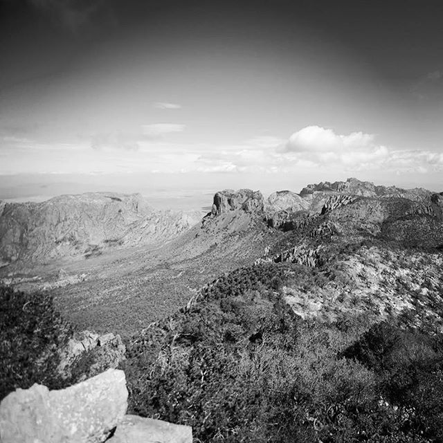 Big bend just loves black and white. - From Instagram