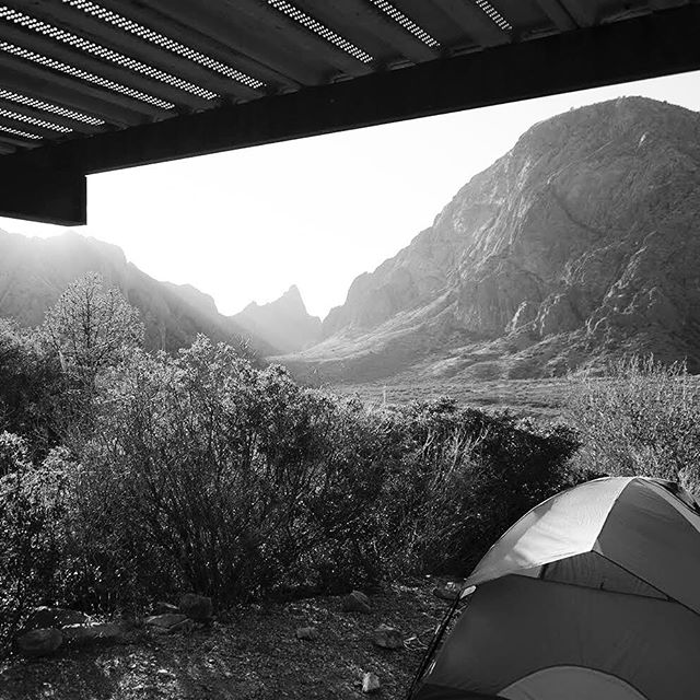Campsite at Big Bend. - From Instagram